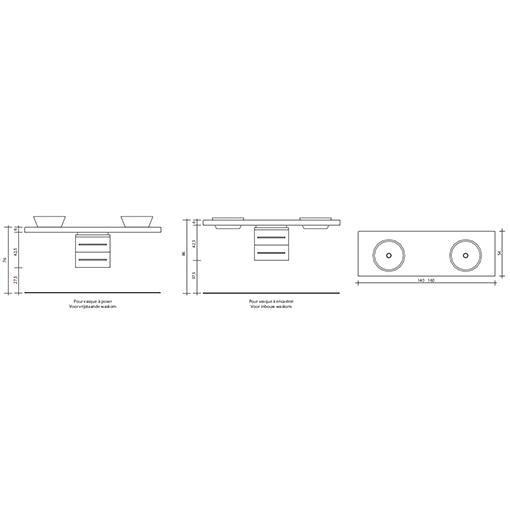 meubel design Free-line-dubbel(tech)